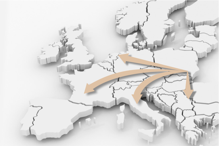 We service various routes and directions. Our transports reach most European countries.